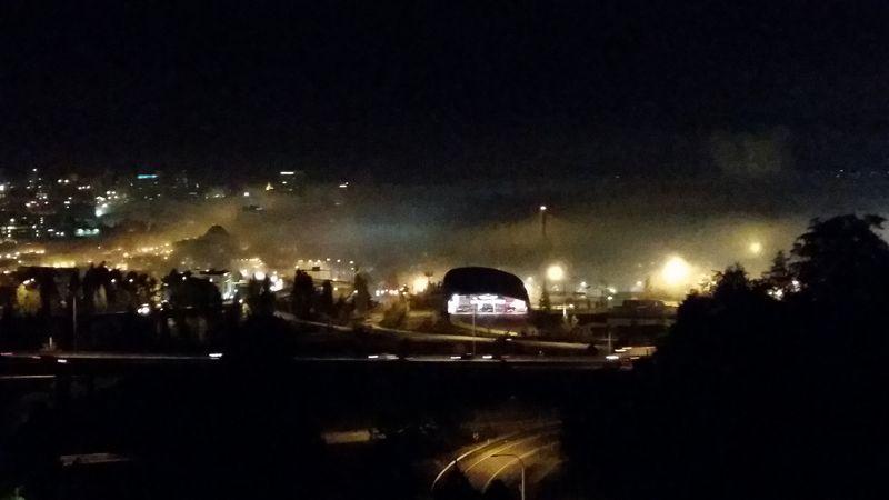 Foggy night in tacoma oct 14
