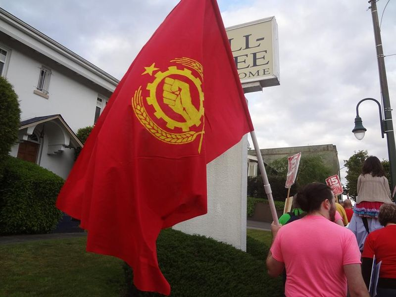 Red flag on May Day