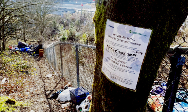 Homeless camp after eviction Feb 2018 - Copy
