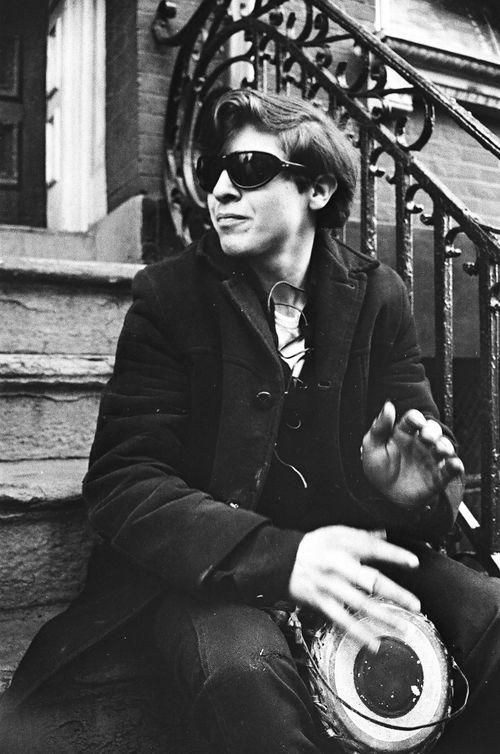East Village Street musician, NYC 1967